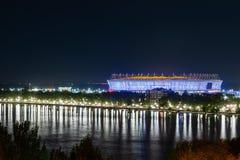 Rosja, Don, Maj 28, 2018: Stadionu futbolowego Rostov arena Stadium dla 2018 FIFA pucharu świata Nocy iluminacja Zdjęcia Stock
