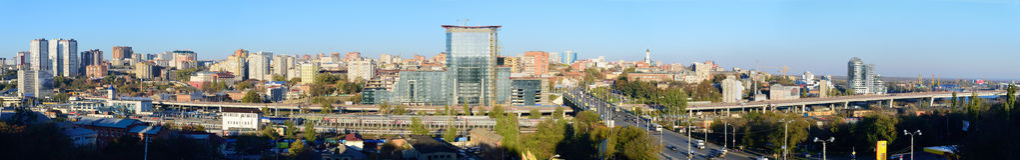 Rosja Don Widok centrum miasta i alei st Obraz Stock