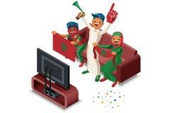 Rosja drużyny futbolowej flaga zwolennik ilustracja wektor