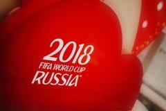 Rosja Fifa pucharu świata 2018 tło Czerwony tło z matry Fotografia Royalty Free