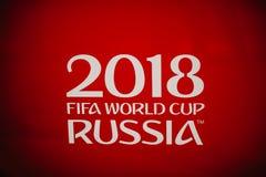 Rosja Fifa pucharu świata 2018 tło Czerwony tło z matry Obrazy Stock