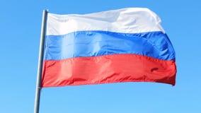 Rosja flaga wiatru nieba patriotyzmu naród zdjęcie wideo