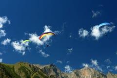 Rosja Kabardino-Barkar republika Chegem paradrome dokąd sen przychodzą prawdziwego, loty nad ziemią! zdjęcia royalty free