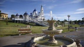 Rosja Kazan Chistopol fontanna i park obrazy royalty free