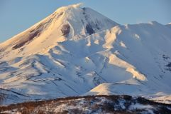 Rosja, Klyuchevskaya Volcanoes grupa zdjęcia stock