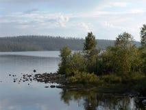 Rosja Kola półwysep: Ekostrovsky cieśnina Obraz Stock