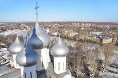 Rosja Kopu?y St Sophia katedra w Vologda obraz royalty free