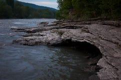 Rosja Krasnodar region Halna rzeka w Adygea Zdjęcia Stock