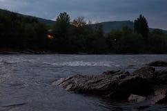 Rosja Krasnodar region Halna rzeka w Adygea Obrazy Royalty Free