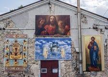Rosja Krymski półwysep Ortodoksalny kościół Ilustracja Wektor