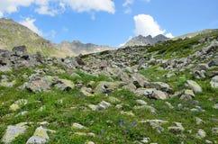 Rosja, lata Kaukaska biosfery rezerwa w chmurnej pogodzie krajobrazy Obraz Royalty Free