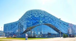 Rosja, Lipa 11 2017 Sochi Olimpijski park - Lodowy pałac Fotografia Royalty Free