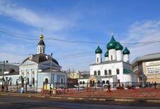 Rosja, marzec 29 2016 Kościół prezentacja władyka i kościół wniebowstąpienie Fotografia Stock