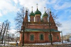 Rosja, marzec 29 2016 Kościół St Nicholas w Tchaikovsky ulicie Obrazy Royalty Free