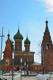 Rosja, marzec 29 2016 Kościół St Nicholas w Tchaikovsky ulicie Zdjęcie Stock