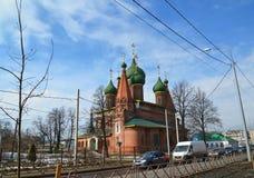 Rosja, marzec 29 2016 Kościół St Nicholas w Tchaikovsky ulicie Fotografia Royalty Free