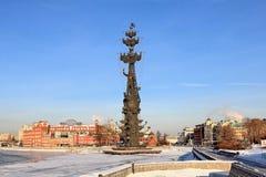 """ROSJA, MOSKWA †""""STYCZEŃ 23, 2019: Moskwa bulwary w Styczniu i rzeka zdjęcia stock"""