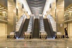 Rosja, Moskwa, centrum biznesu stacja metru obraz stock