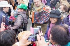 05/01/2015 Rosja, Moskwa Demonstracja na placu czerwonym Pracowniczy da Obrazy Stock