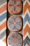 Rosja, Moskwa: Kamienny cyzelowanie i geometryczni ornamenty wnętrze fotografia royalty free