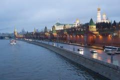 Rosja, Moskwa, Kremlin w wieczór Obraz Stock
