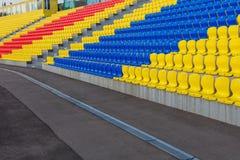 ROSJA, MOSKWA LIPIEC 29, 2016: Stary stadion futbolowy otwierał po tym jak odbudowa należna Moskwa mayor program Obraz Royalty Free