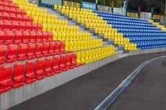 ROSJA, MOSKWA LIPIEC 29, 2016: Stary stadion futbolowy otwierał po tym jak odbudowa należna Moskwa mayor program Fotografia Stock
