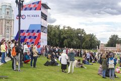 Rosja, Moskwa, 09 09 2017 mieszczuchy w Tsaritsino Pa Obraz Stock