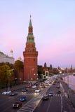 Rosja, Moskwa, noc widok Fotografia Stock