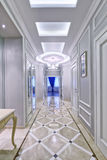 Rosja, Moskwa region - wewnętrzny sala projekt w luksusowym dom na wsi Zdjęcia Stock