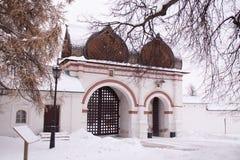 Rosja Moskwa Spasski brama w Kolomenskoe fotografia stock