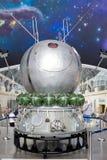 Rosja, Moskwa, VDNH: Ekspozycja kosmonautyki i lotnictwa centrum - wielki astronautyczny muzeum w Rosja obrazy stock