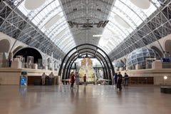 Rosja, Moskwa, VDNH: Ekspozycja kosmonautyki i lotnictwa centrum - wielki astronautyczny muzeum w Rosja obraz stock