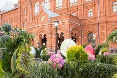 Rosja, Moskwa, 07 04 2018: Wielkanocne dekoracje na ulicach Moskwa Fotografia Stock