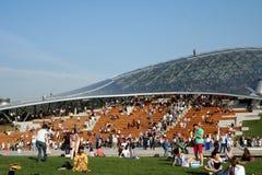 Rosja, Moskwa, Zaryadye park: moskwiczaniny odpoczynek Zdjęcia Stock