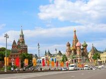 Rosja, Moskwa, zwycięstwo dzień, Kremlin, wakacyjny miasto obrazy stock