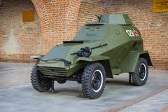 ROSJA, NIZHNY NOVGOROD - AUG 06, 2014: Opancerzony samochód BA-64 Obraz Stock