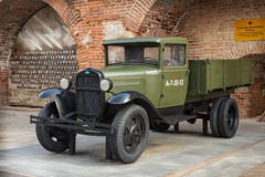 ROSJA, NIZHNY NOVGOROD - AUG 06, 2014: Radziecki samochód podczas drugi wojny światowa GAZ-AA Fotografia Stock