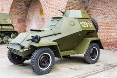 ROSJA - NIZHNY NOVGOROD, MAJ 4: militarny opancerzony samochód BA-64 Obraz Royalty Free