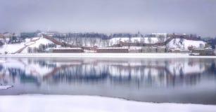 Rosja Nizhny Novgorod w zimie zdjęcie stock