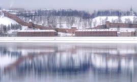 Rosja Nizhny Novgorod w zimie zdjęcia royalty free