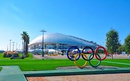 Rosja, Października 2 2018 Sochi Olimpijski park - Stadium arena Fisht Sochi obrazy royalty free