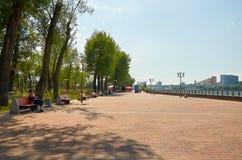 Rosja Parkowy ` Levoberezhny ` obok stadium ` areny ` Lipiec 01, 2018 Obraz Royalty Free