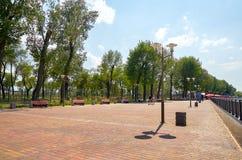 Rosja Parkowy ` Levoberezhny ` obok stadium ` areny ` Lipiec 01, 2018 Obraz Stock