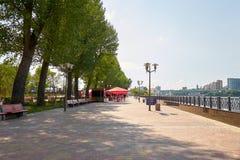 Rosja Parkowy ` Levoberezhny ` obok stadium ` areny ` Lipiec 01, 2018 Zdjęcie Stock