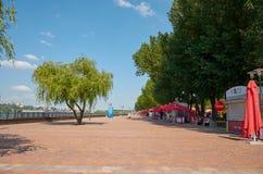 Rosja Parkowy ` Levoberezhny ` obok stadium ` areny ` Lipiec 01, 2018 Zdjęcia Stock