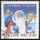 ROSJA - 2003: przedstawienia Święty Mikołaj, oddany Szczęśliwy nowy rok fotografia royalty free