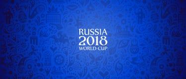 Rosja 2018 pucharów świata sztandar Obrazy Stock