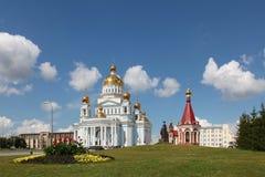 Rosja Saransk St Theodor Ushakov ` s kaplica i katedra obraz royalty free