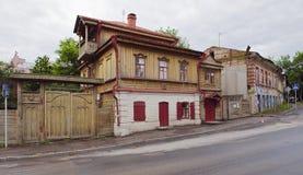 Rosja, Saratov Październik uliczny Kuznetsova dom Pavel Kuz zdjęcie stock